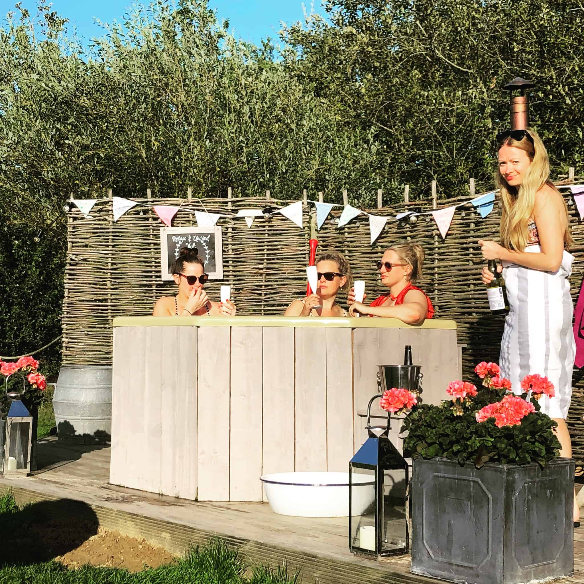 hen do with hot tub