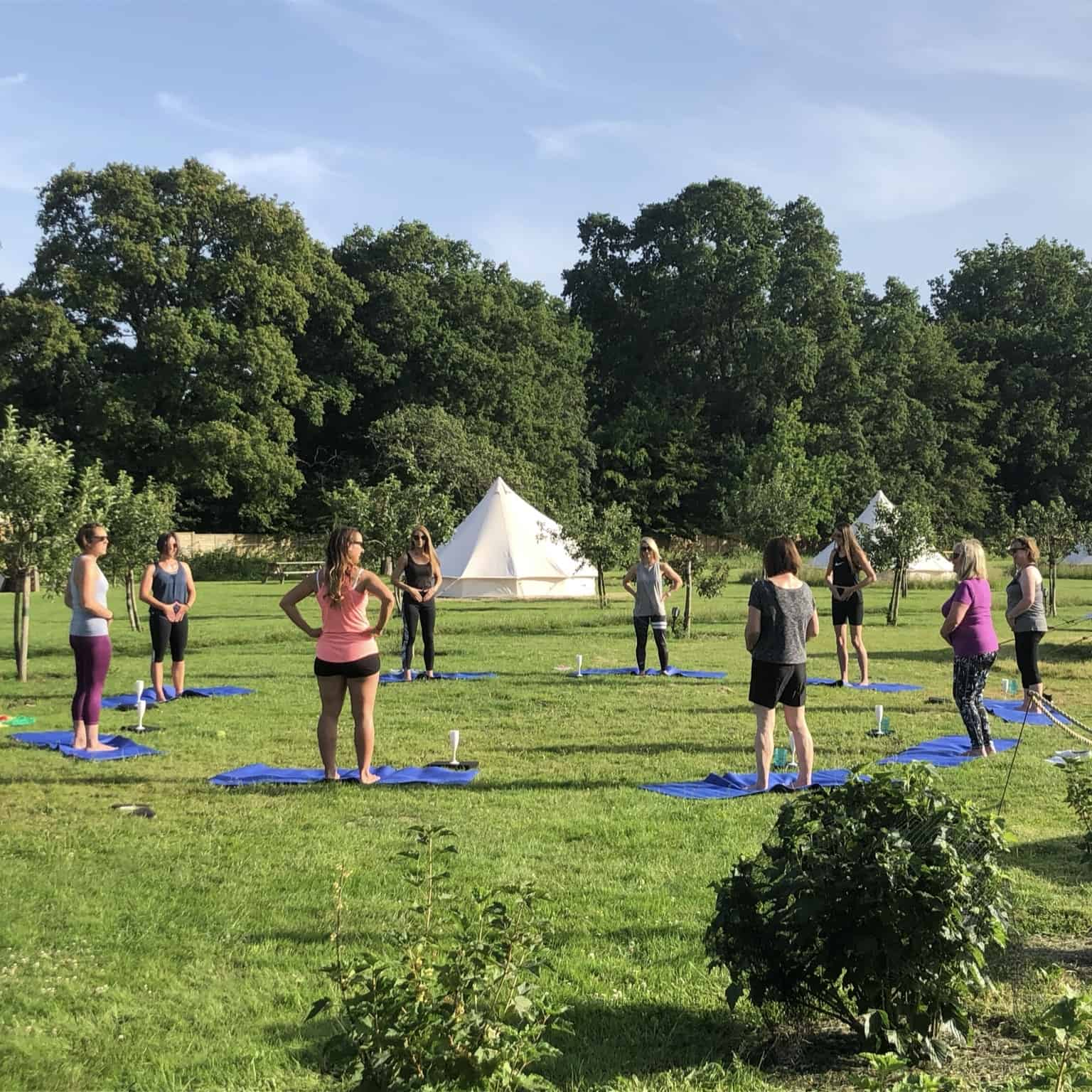 outdoor yoga session kent
